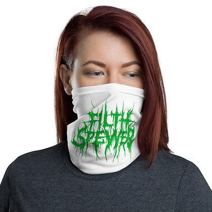 Filth Spewer Green and White Neck Gaiter