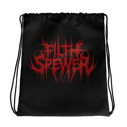 Filth Spewer Logo Red Drawstring bag