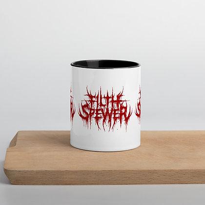 Filth Spewer Logo Red, White Mug with Color Inside