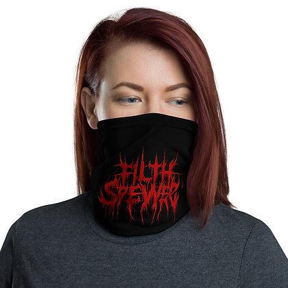Filth Spewer Red and Black Neck Gaiter