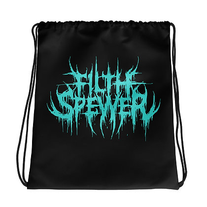 Filth Spewer Logo Light Blue Drawstring bag