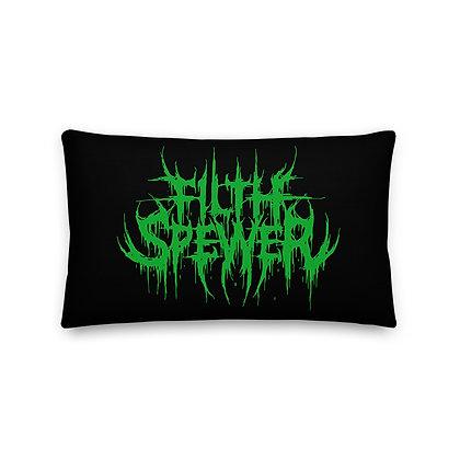 Filth Spewer Green Premium Pillow
