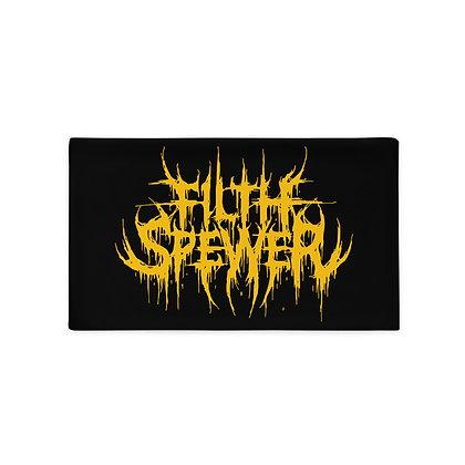 Filth Spewer Logo White Pillow Case