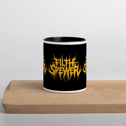 Filth Spewer Logo Yellow Mug with Color Inside