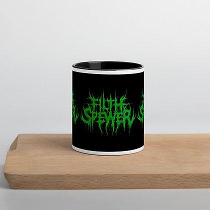Filth Spewer Green Logo Mug with Color Inside