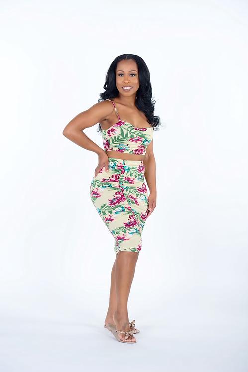 Tropical Colda Skirt Set
