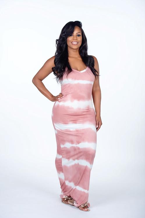 Flava Flav Tie-Dye Printed Maxi Dress