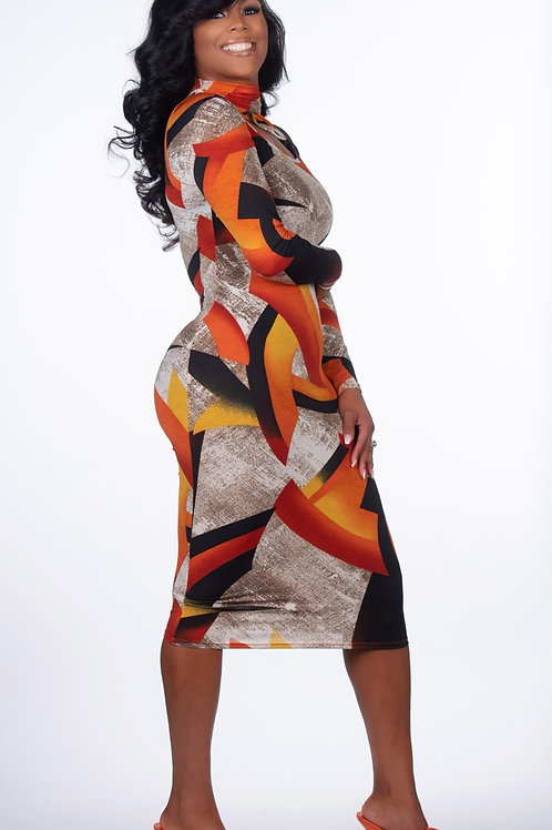 Work of Art Midi Dress