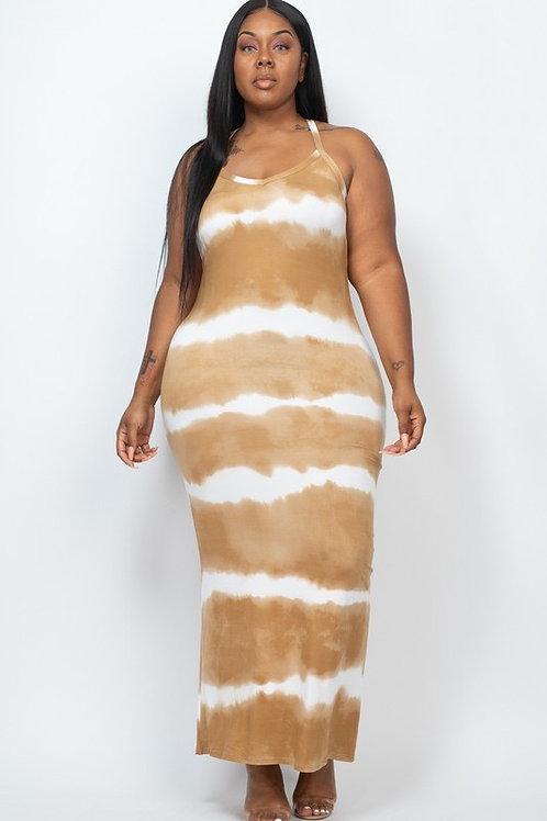 Flava Flav Tie-Dye Printed Maxi Dress Plus Size