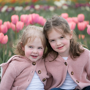 Smith Girls at Flower Fields