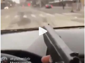 Дагестан: отстрел собак с автомобиля
