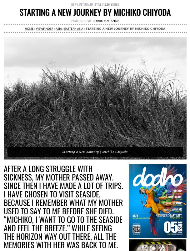 Dodho magazine に作品が掲載