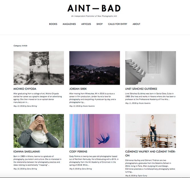 AINT-BAD website に作品が掲載