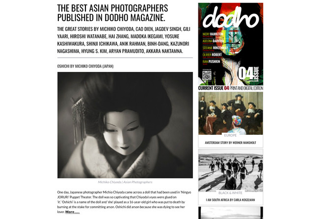 "My works has been selected as one of ""15 Talented Asian Photographers"""