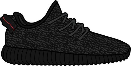 Pirate Black Yeezy 350 Boost Sticker