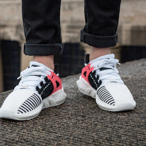 ADIDAS EQT SUPPORT 93/17 BOOST WHITE TURBO RED BA7473