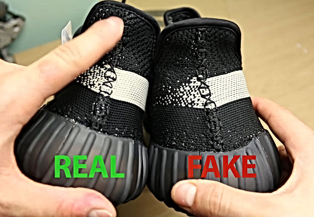 43a477a32 Core Black Yeezy Boost 350 V2 (BY1604) Fake vs Real Legit Check ...