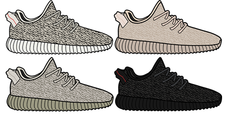 Yeezy Boost 350 Sticker Bundle