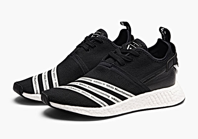 online retailer f0bff 91471 All Links To Buy Adidas x White Mountaineering NMD R2 Black & Navy Shoes