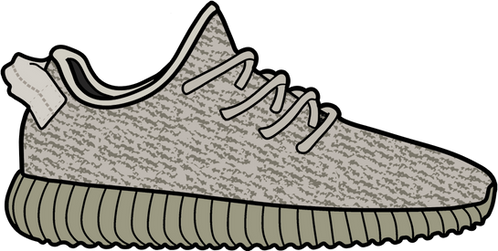 Moonrock Yeezy 350 Boost Sticker
