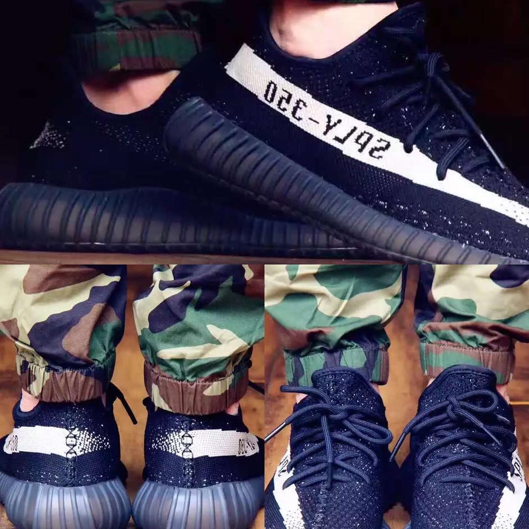 Adidas Yeezy Boost 350 v2 black / white BY 1604 (# 1034843) from