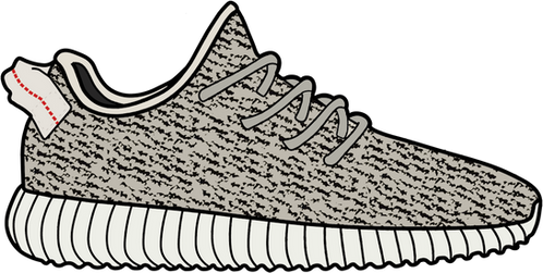Turtle Dove Yeezy 350 Boost Sticker