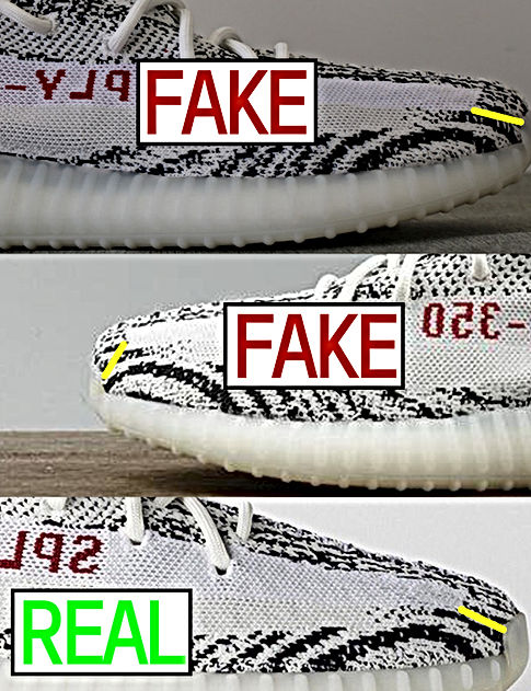 d8a9d912 How To Legit Check Your Zebra Yeezy Boost 350 V2 Real vs Fake Comparison