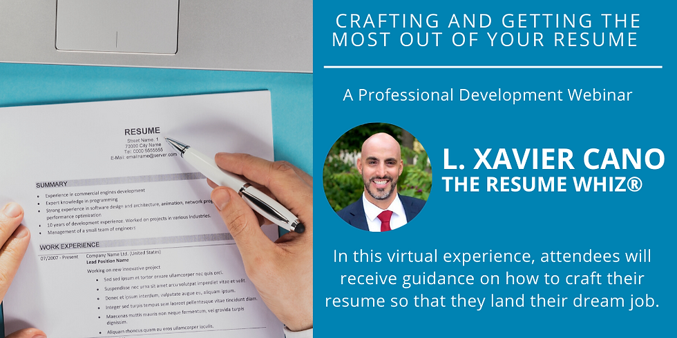 Crafting and Getting the Most Out of Your Resume