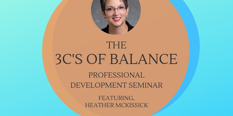 The 3 C's of Balance: Career, Community and Caring