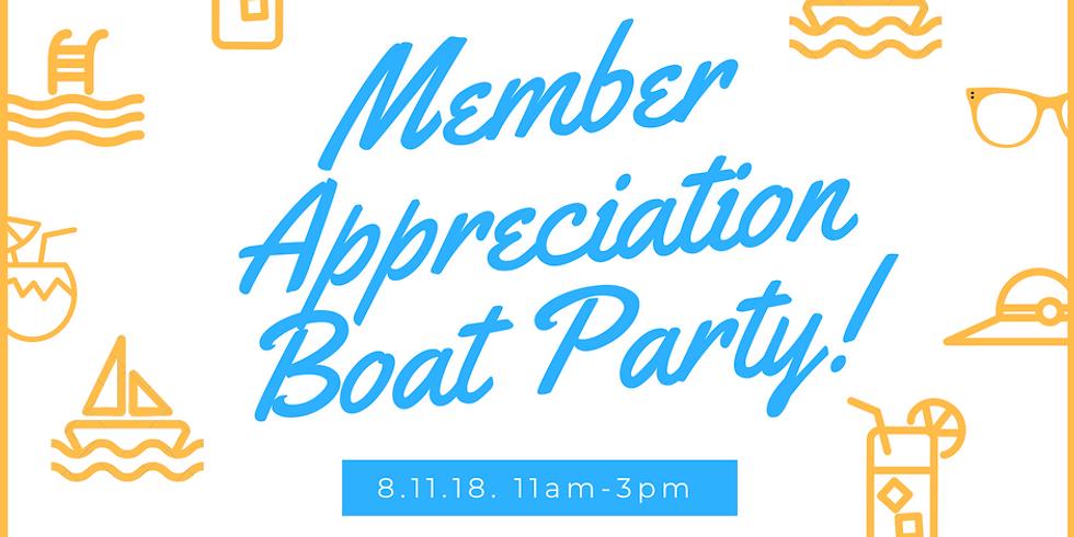 Member Appreciation Boat Party!