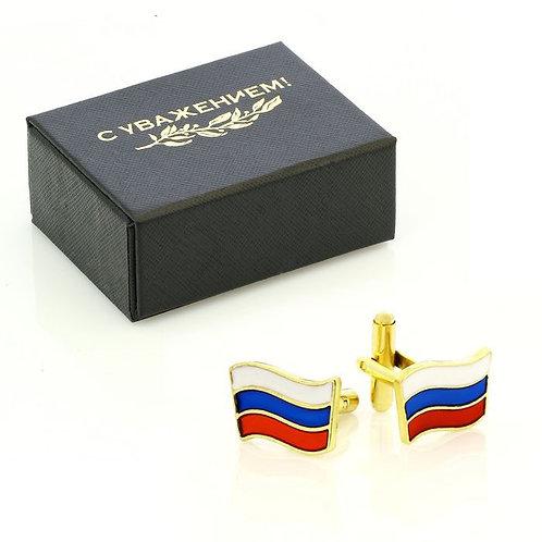 """Manschettenknöpfe für Männer """"Flagge der Russischen Föderation"""""""