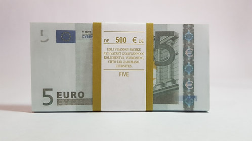 5 EURO € Pack of notes paper money souvenir Play Money game Banknot