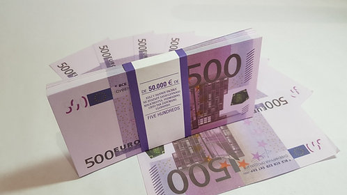 €500 EURO SOUVENIR BANKNOTE 1 pack for Prank, Games, Movies&Videos and Gift