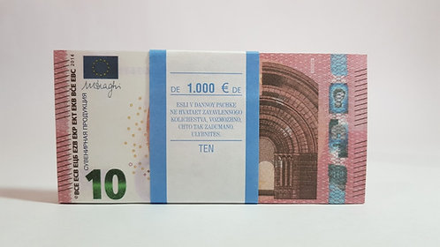 10  EURO € Pack of notes paper money souvenir Play Money game Banknot