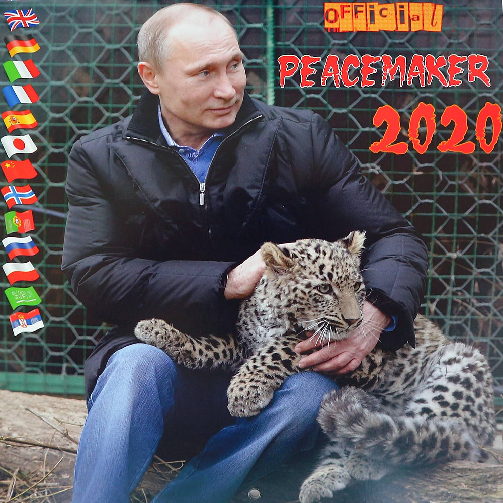 THE BEST PUTIN CALENDAR PEACEMAKER  2 covers