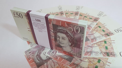 50 £ 50 UK POUNDS PROF PACK OF NOTES PAPER MONEY SOUVENIR GBP