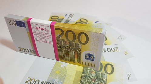 €200 EURO SOUVENIR BANKNOTE 1 pack for Prank, Games, Movies&Videos and