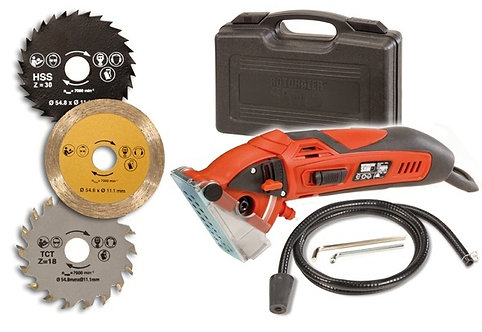 Rotorazer Compact Circular Saw & Saw Set - DIY Projects - Wood Flooring, Cut Dry