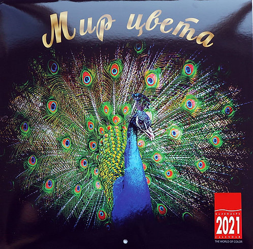 2021 WALL CALENDAR FROM RUSSIA THE WORLD OF COLOR FREE SHIPPING BEST GIFT