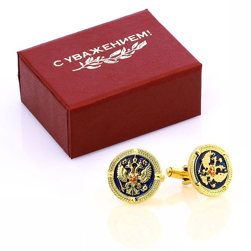 Cufflinks for men Coat of arms of Russia