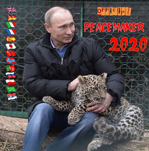 """فلاديمير بوتين 2020 التقويم """"صانع السلام"""" 13 لغة تقويم الحائط الأصل"""