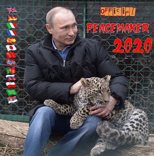 "Vladimir Putin 2020 Kalender ""Peacemaker"" 13 sprog Wall Kalender Original"