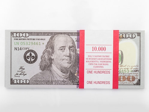 100 $ dollars USD USA Pack of notes paper money souvenir comik game banknote