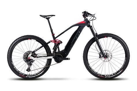 Noleggio E-Bike biammortizzate da adulto a Predazzo, Val di Fiemme. Motore Brose e batteria da 720Wh