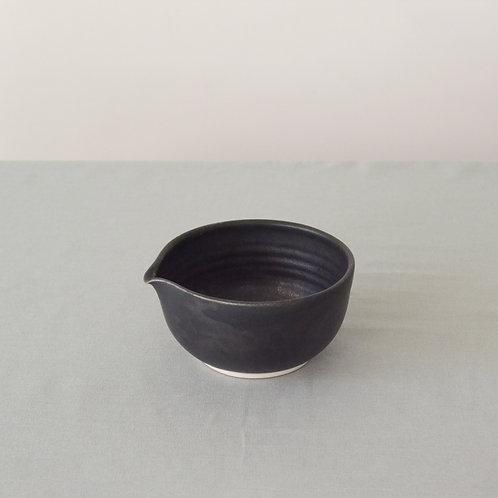 Metallic black mixing bowl
