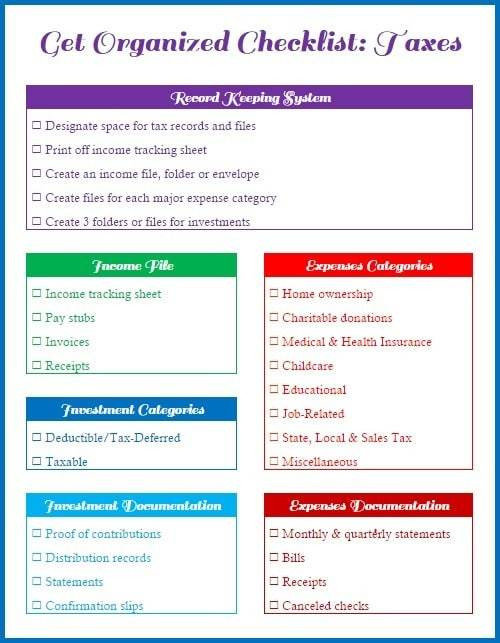 Get-Organized-Checklist-For-Your-Taxes