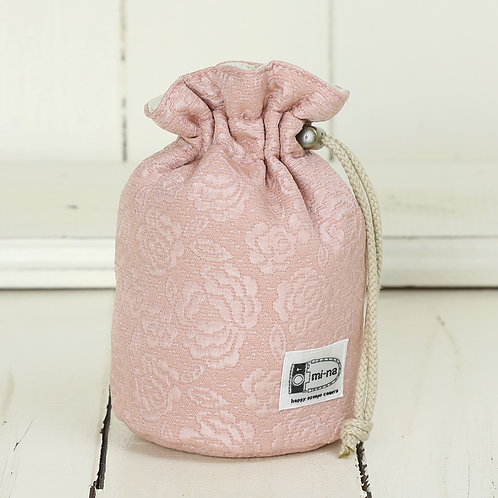 Lens pouch /S size/Lady rose pink
