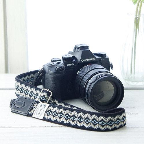 Camera Strap/ Blue stitch