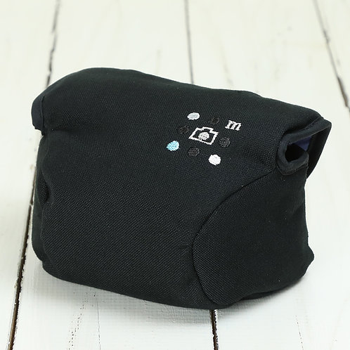 Camera Case/ S size/ Needlework black