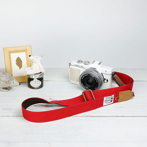 Camera Strap/ Canvasred